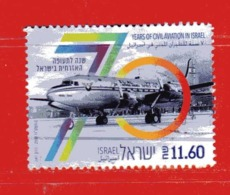(Us.1) Israel ° 70 Jaar Luchtvaart 2018.  Used - Israele