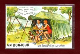 76-CARTE POSTALE DE SOTTEVILLE SUR MER - Francia