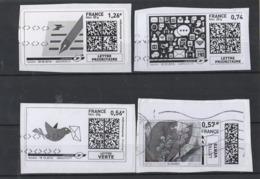 2012-2013-2016  - 4 Vignettes Illustrées - 2010-... Illustrated Franking Labels