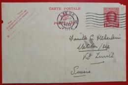 BELGIQUE BELGIE CARTE POSTALE POSTKAART LIEGE 1932 TO UETIKON ZURICH SWITZERLAND (SEE PICTURE FOR CONDITION) - Other
