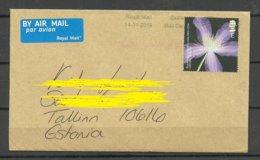 GREAT BRITAIN 2019 Air Mail Cover To Estonia Flower - 1952-.... (Elizabeth II)