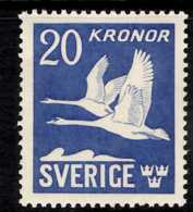1942 Sweden - Flying Swans - Perforated All 4 Sides - MNH** MI 290B KW 130 MIE - Suecia