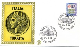 1983 ITALIA FDC SIRACUSANA ALTO VALORE 1652 - 6. 1946-.. Republic