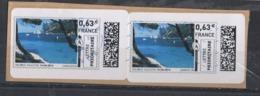 Mon Timbre En Ligne   1 Paire LP - 2010-... Illustrated Franking Labels