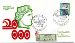 1987 ITALIA FDC SIRACUSANA ALTO VALORE 1804 - 6. 1946-.. Republic