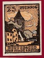 Allemagne 1 Notgeld 25 Pfenning Stadt Crivitz (Série Complète)   Dans L 'état Lot N °5125 - Collections