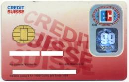 SWITZERLAND CREDIT SUISSE EC SMART BANK CARD WITH CHIP EXP. 1999 - Cartes De Crédit (expiration Min. 10 Ans)