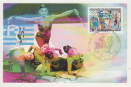 Carte  Maximum  1er   Jour   NOUVELLE  CALEDONIE   Jeux  Olympiques  D'  ATHENES   2004 - Zomer 2004: Athene