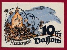 Allemagne 1 Notgeld 10 Pfenning Stadt Dassow (Série Complète)   Dans L 'état Lot N °5127 - [ 3] 1918-1933 : Repubblica  Di Weimar