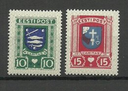 Estland Estonia 1936 Michel 109 - 110 Caritas Charity Ball MNH - Estonia