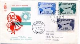 1961 FDC Busta Primo GIorno GRONCHI Viaggiata - 6. 1946-.. Republic