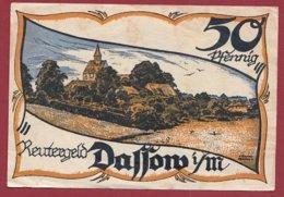 Allemagne 1 Notgeld 50 Pfenning Stadt Dassow (Série Complète)   Dans L 'état Lot N °5129 - [ 3] 1918-1933 : Repubblica  Di Weimar