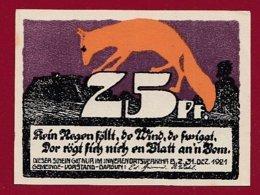 Allemagne 1 Notgeld 25 Pfenning Stadt Dargun (Série Complète)   Dans L 'état Lot N °5131 - Collections