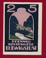 Allemagne 1 Notgeld 25 Pfenning Stadt Ludwigslust (Série Complète)   Dans L 'état Lot N °5134 - [ 3] 1918-1933 : Repubblica  Di Weimar