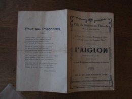 VILLE DU NOUVION EN THIERACHE 20 & 25 DECEMBRE 1942 L'AIGLON AU PROFIT DE LA CAISSE DES PRISONNIERS DU NOUVION - Historische Dokumente