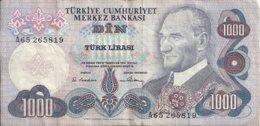 TURQUIE 1000 LIRA L.1970 VF P 191 - Türkei