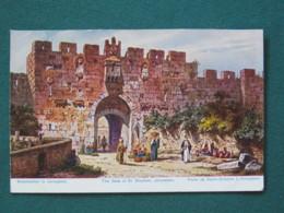 "French Levant Palestine (Israel) 1902 - 1920 Unused Postcard ""Jerusalem - St. Stephen Gate"" - Palestine"
