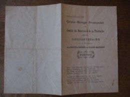 CROIX-ROUGE FRANCAISE COMITE DU NOUVION & DE LA THIERACHE SOUVENIR DU 1er JUIN 1914 CINQUANTENAIRE DE LA FONDATION DE LA - Historische Dokumente