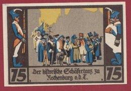 Allemagne 1 Notgeld 75 Pfenning Stadt Rothenburg (C)  Dans L 'état Lot N °5152 - [ 3] 1918-1933 : Repubblica  Di Weimar