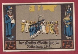 Allemagne 1 Notgeld 75 Pfenning Stadt Rothenburg (D)  Dans L 'état Lot N °5153 - Collections