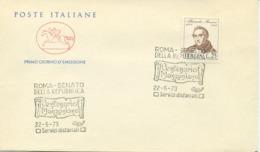 ITALIA - FDC CAVALLINO 1973 - ALESSANDRO MANZONI - LETTERATURA - 6. 1946-.. Republic