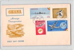12029 FDC GHANA AIRWAYS INAUGURATION  MANKESSIM - Ghana (1957-...)
