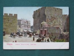 "French Levant Palestine (Israel) 1902 - 1920 Unused Postcard ""Jerusalem - Jaffa Gate - Horse Cart"" - Palestine"
