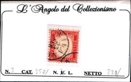 90900) ITALIA- 40 C.-Tipo Di Sardegna Dentellati - 1862 (febbraio/ottobre)- USATO - Usati