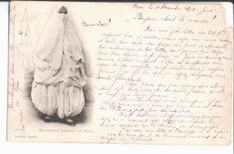 Mauresque Costume De Ville. Geiser Alger. De Jean à Oran à P. Tapis Vandenbulke , Beurre Et Oeufs à Roubaix. 1902. - Algérie