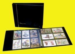 CLASSEUR ALBUM SAFE NOIR + 25 FEUILLES TRANSPARENTES POUR 300 CARTES POSTALES ANCIENNES OU AUTRES - 6 CASES - Materiali