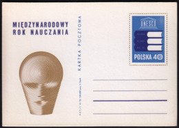 Poland 1970 / UNESCO International Year Of Teaching / Postal Stationery - Enteros Postales