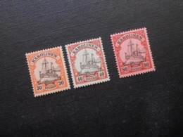 D.R.Mi 12/13/15**MNH - Deutsche Kolonien (Karolinen) 1900/1910  Mi 17,50 € - Colony: Caroline Islands