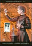Commemorative Sheet Slovakia Maria Curie-Sklodowska, Nobel Prize Winner 2017 - Premio Nobel