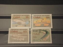 CISKEI - 1989 PESCI  4 VALORI -  NUOVI(++) - Ciskei