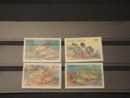 ST. LUCIA - 1983 PESCI 4 VALORI -  NUOVI(++) - St.Lucia (1979-...)