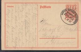 INFLA:  DR P 141 I/004 Ferngebühr, Mit Bahnpost Stempel: Harzberg-Wernigerode-Heudeber ZUG 951 7.11.1921, Postreiter - Infla