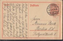 INFLA:  DR P 141 I/004 Ferngebühr, Mit Stempel: Hagen 18.11.1921, Postreiter - Infla