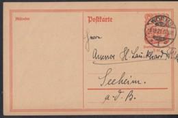 INFLA:  DR P 141 I/004 Ferngebühr, Mit Stempel: Worms 6.10.1921, Postreiter - Infla