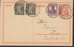 INFLA:  DR P 141 I/005 Mit ZFr. 142 A, 2x 159 A, Ortsgebühr, Mit Stempel: Heilbronn 11.JAN.1922, Postreiter - Infla