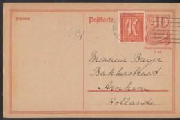 INFLA:  DR P 141 I/006 Mit ZFr. 163, Auslandsporto, Mit Stempel: Frankfurt M 19.10.1921, Postreiter - Infla