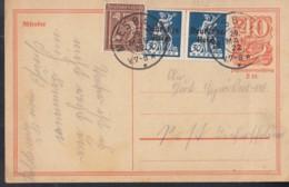 INFLA:  DR P 141 I/007 Mit ZFr. 2x 123, 161, Fernporto, Mit Stempel: Miesbach 29.MAI 1922, Postreiter - Infla