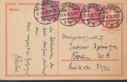 INFLA:  DR P 141 I/007 Mit ZFr. 2x 145 A II, 158, Fernporto, Mit Stempel: Cassel 13.4.1922, Postreiter - Infla