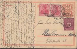 INFLA:  DR P 141 I/007 Mit ZFr. 2x 145 A II, 158, Fernporto, Mit Stempel: Lahr 22.3.1922, Postreiter - Infla
