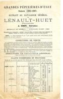 GRANDES PEPINIERES D'USSY Extrait Du Catalogue Lénault-Huet 1886-1887 - Agriculture