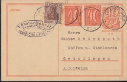 INFLA:  DR P 141 I/007 Mit ZFr. 140 A, 2x 163, Fernporto, Mit Stempel: Heinrichs 7.1.1922, Postreiter - Infla
