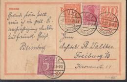 INFLA:  DR P 141 I/007 Mit ZFr. 145 A II, 158, 163, Fernporto, Mit Stempel: Bühl 9.1.1922, Postreiter - Infla