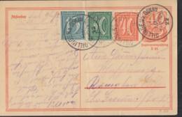INFLA:  DR P 141 I/007 Mit ZFr. 160, 162, 163, Fernporto, Mit Stempel: Dillingen 1.MAI 1922, Postreiter - Infla