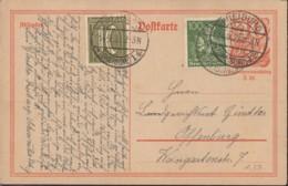 INFLA:  DR P 141 I/008, Mit  ZFr. 159 A, 187 A Fernporto Mit Stempel: Freiburg 14.9.1922, Postreiter - Infla