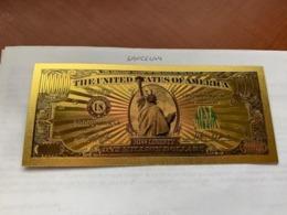 United States $1000,000.00 Gold Foil Souvenir Banknote #a - Verenigde Staten