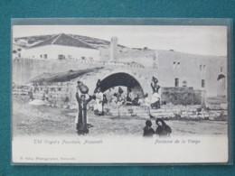 "Palestine (Israel) 1920 - 1948 Unused Postcard ""Nazareth - Virgin 's Well - Woman Carrying Water"" - Palestina"